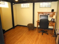 Private office in finished basement