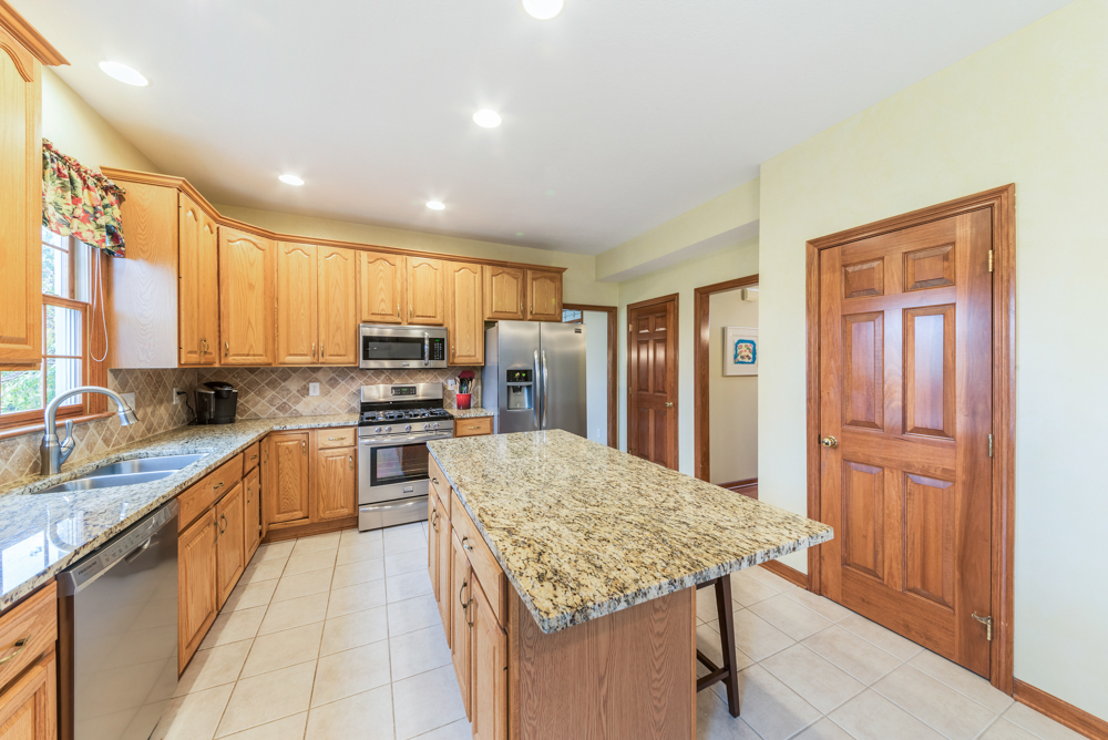 Kitchen with large work area
