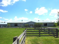 Summer partial view of barn